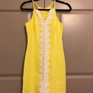 Never worn yellow Lilly Pulitzer dress